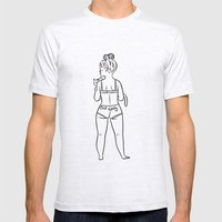 Cat Lady Mens Fitted Tee Ash Grey SMALL