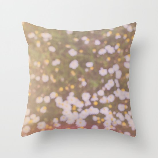 Summer brings the flowers Throw Pillow
