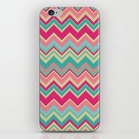Aztec chevron pattern- pink & cream iPhone & iPod Skin