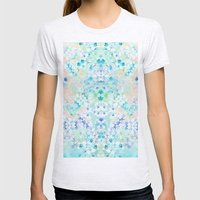 Pastel Flowers  Womens Fitted Tee Ash Grey SMALL