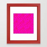 Hot Pink Cheese Doodles … Framed Art Print