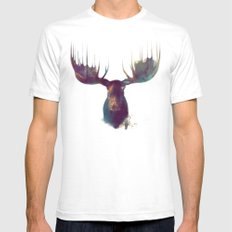 Moose SMALL White Mens Fitted Tee