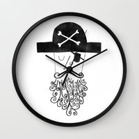 smug pirate Wall Clock