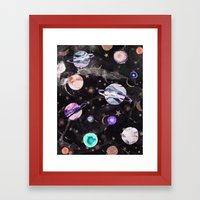 Marble Galaxy Framed Art Print