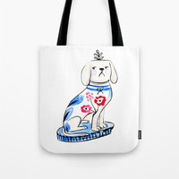 Fancy Little Dog  Tote Bag