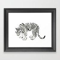 Paper Tiger Framed Art Print