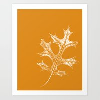 STATIONERY CARD - Autumn Leaf Art Print