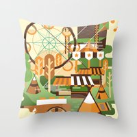 Let's Camp, shall we? Throw Pillow