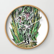 where's the beach ? Wall Clock