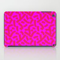 Hot Pink Cheese Doodles /// www.pencilmeinstationery.com iPad Case