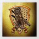 Fox with brave shield Canvas Print