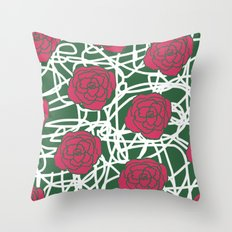 ROSE SQUIGGLE Throw Pillow