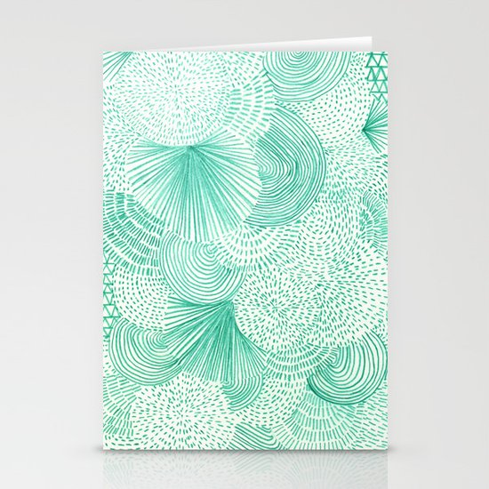 Green Fields Stationery Card
