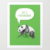 Panda Pun Art Print