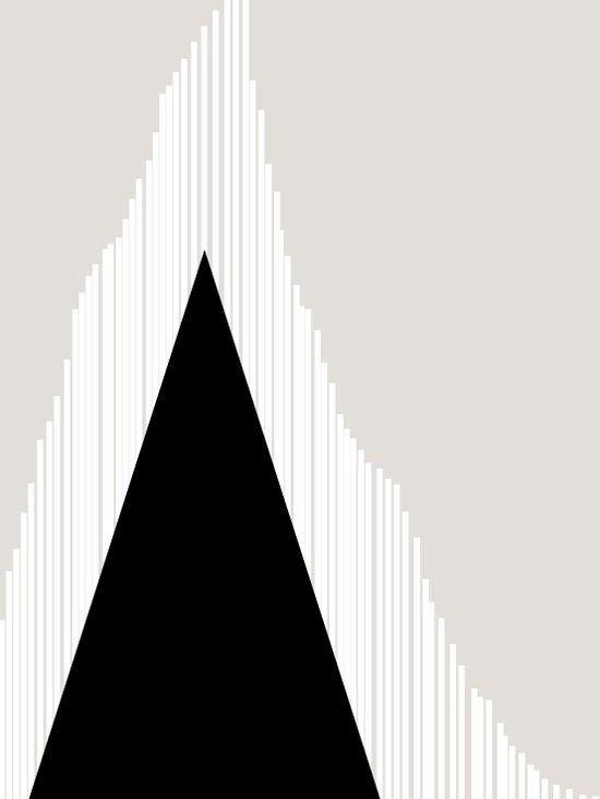 Abstract Mountain Canvas Print