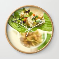 Cheese on the leaf  Wall Clock