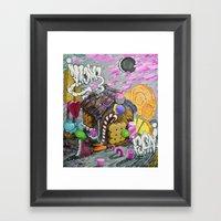 Candy House Framed Art Print