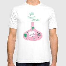 Love Veggies in my Tummy Mens Fitted Tee SMALL White