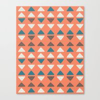 Triangles + Dots Canvas Print