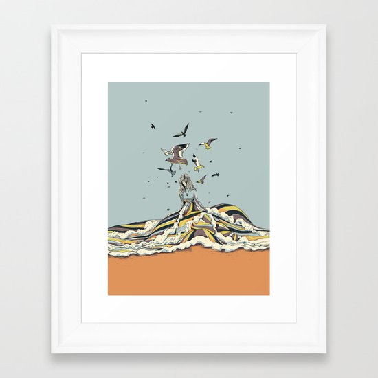 WALK ON THE OCEAN Framed Art Print