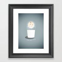 Full cookie rising Framed Art Print