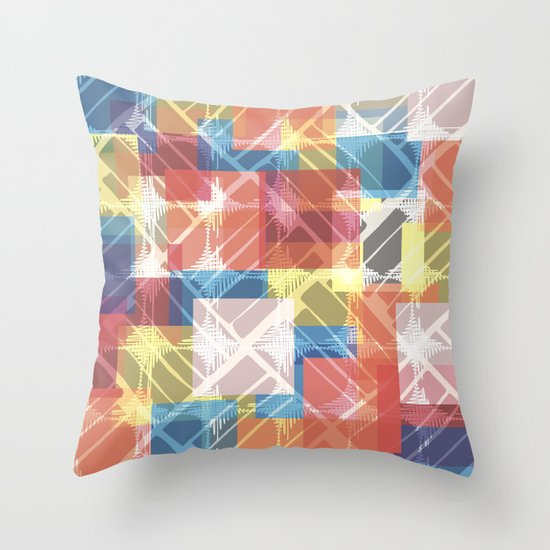 squares n holes... Throw Pillow