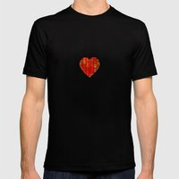 ABSTRACT - Delphian heart Mens Fitted Tee Black SMALL