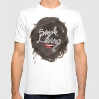 Simple Living Mens Fitted Tee White SMALL