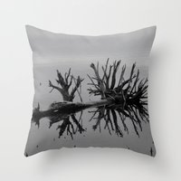 Image in Black and White Throw Pillow
