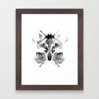 Rorschach Framed Art Print