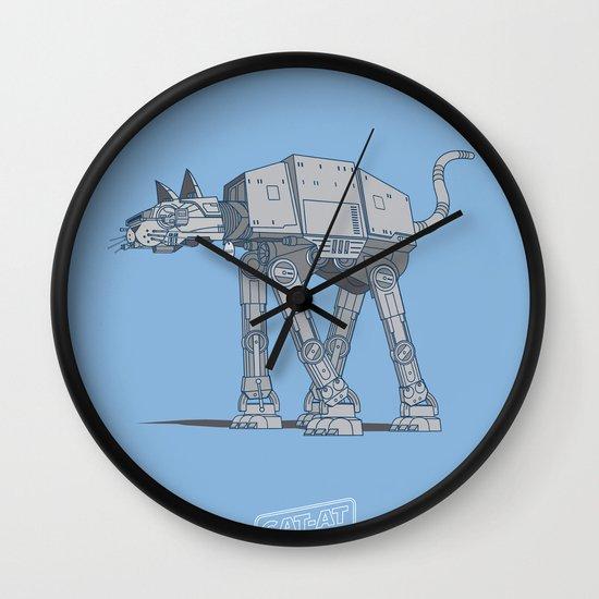Cat-At Wall Clock