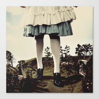 TomFeiler_Alice in Wonderland_Alice's legs Canvas Print