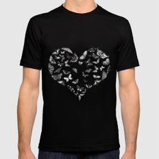 Amore Black Mens Fitted Tee SMALL