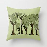 Tree World Throw Pillow