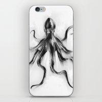 King Octopus iPhone & iPod Skin
