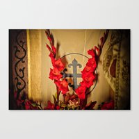 The Flowering Cross Canvas Print