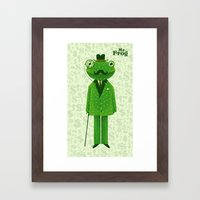 Mr. Frog Framed Art Print