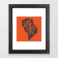Will Of Team 7 [Orange-A… Framed Art Print