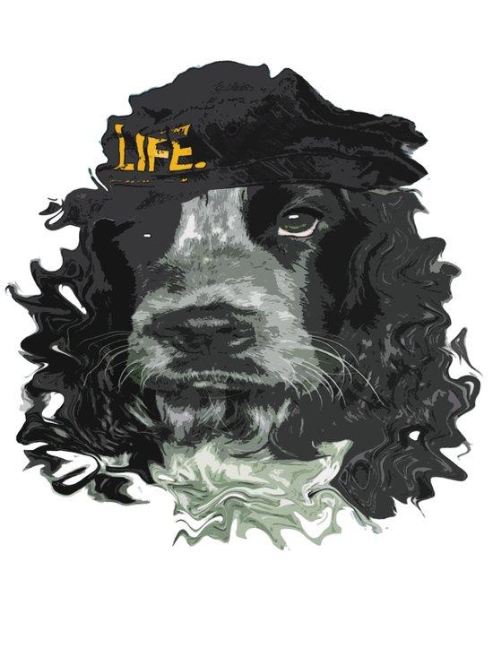 DogHead Art Print