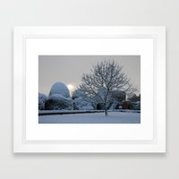 The quiet place in snow Framed Art Print