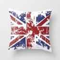 Grunge UK Throw Pillow