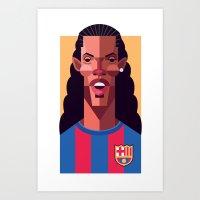 R10   Blaugrana Art Print