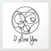 I Love you Gallifreyan Doctor Who Art Print