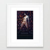 Queen Of Diamonds Framed Art Print