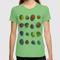 Painted Pebbles 2 Womens Fitted Tee Grass SMALL