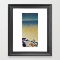 Meik Beach Date  Framed Art Print