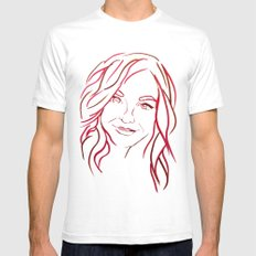 Red Portrait Mens Fitted Tee White SMALL