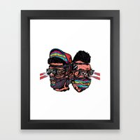 Bass Brothers Album cover  Framed Art Print