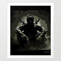 Call Of Duty Camo Art Print