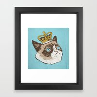 Grumpy King Framed Art Print